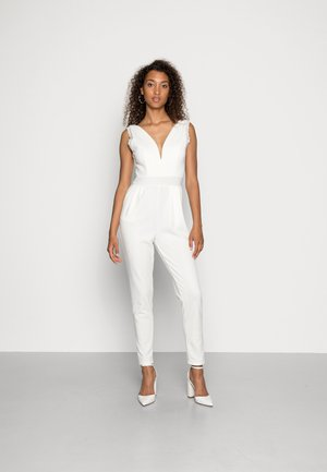 BELLA V NECK  - Jumpsuit - white