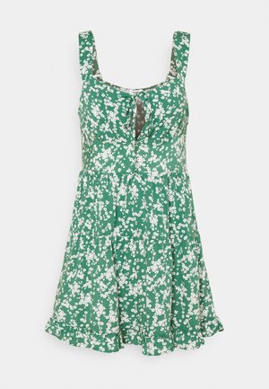 SANDY SKATED DRESS - Denní šaty - heritage green