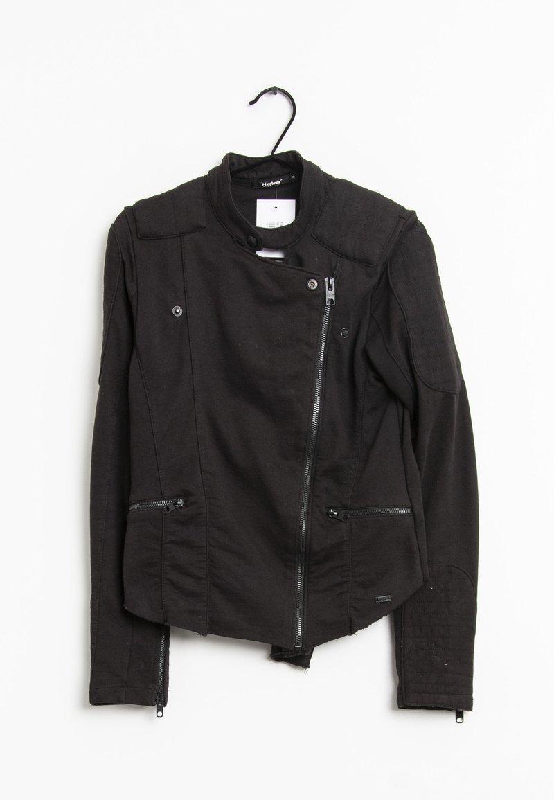 Tigha - Imitatieleren jas - black