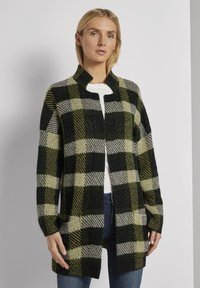 TOM TAILOR - Cardigan - black yellow check knitted - 0