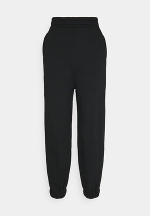 HIGH WAIST OVERSIZED JOGGERS - Tracksuit bottoms - black