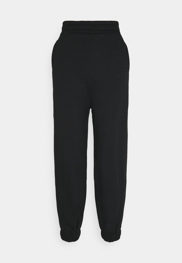 HIGH WAIST OVERSIZED JOGGERS - Pantalon de survêtement - black
