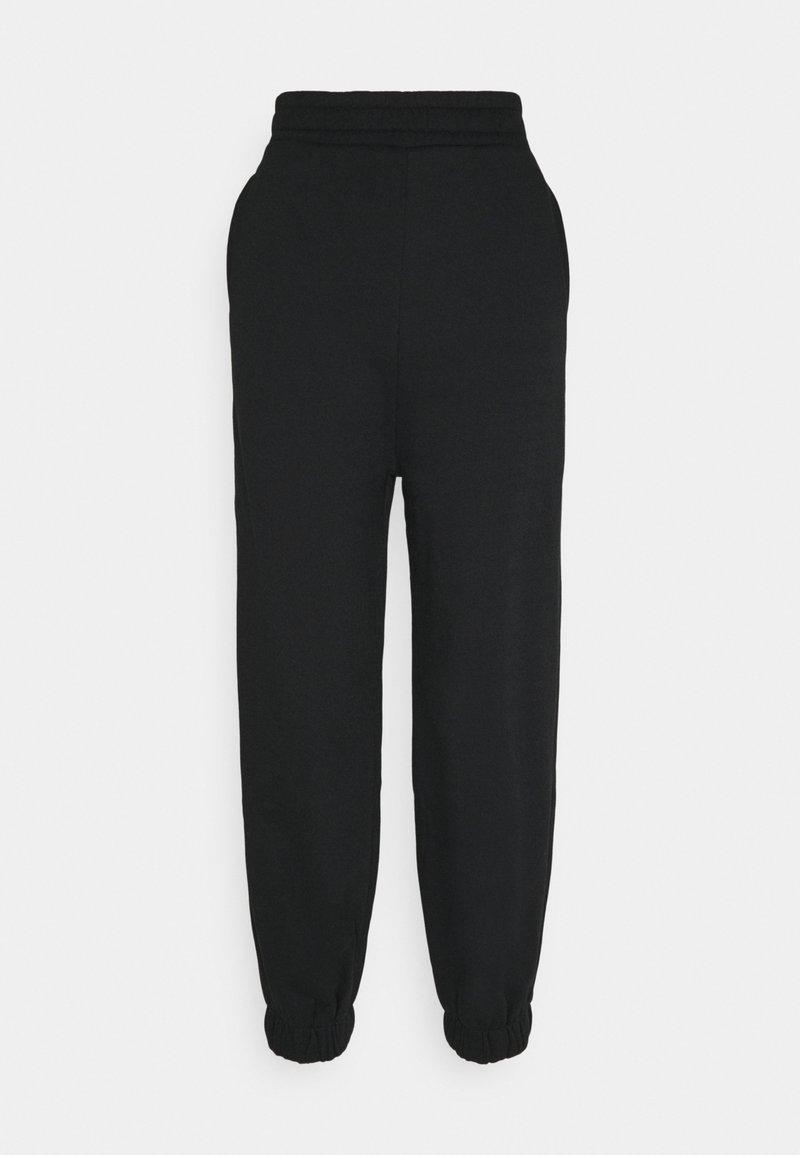 NU-IN - HIGH WAIST OVERSIZED - Pantalon de survêtement - black