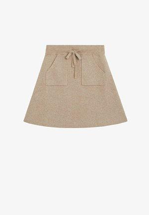 PALITA - A-line skirt - light brown melange