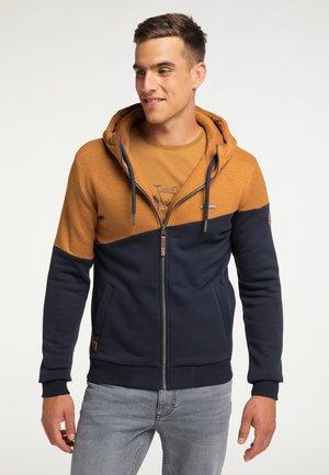 Zip-up sweatshirt - cinnamon