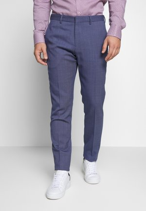 SLIM FIT FLEX PANT  - Suit trousers - blue