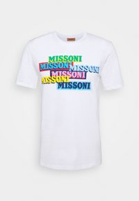 Missoni - SHORT SLEEVE  - T-shirt imprimé - white
