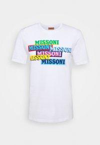 Missoni - SHORT SLEEVE  - T-shirt con stampa - white - 4