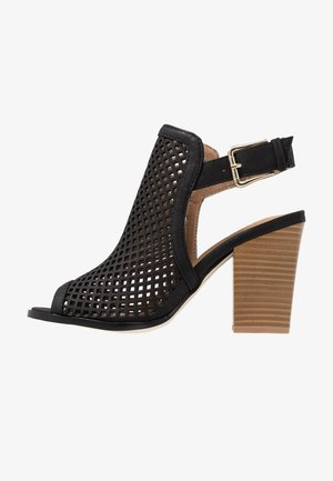 TRIAC VEGAN - High heeled sandals - black