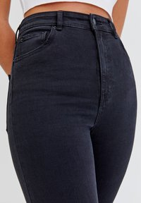 PULL&BEAR - Jeans Skinny Fit - mottled black - 3
