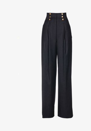 OPINABILE - Trousers - black/off-white