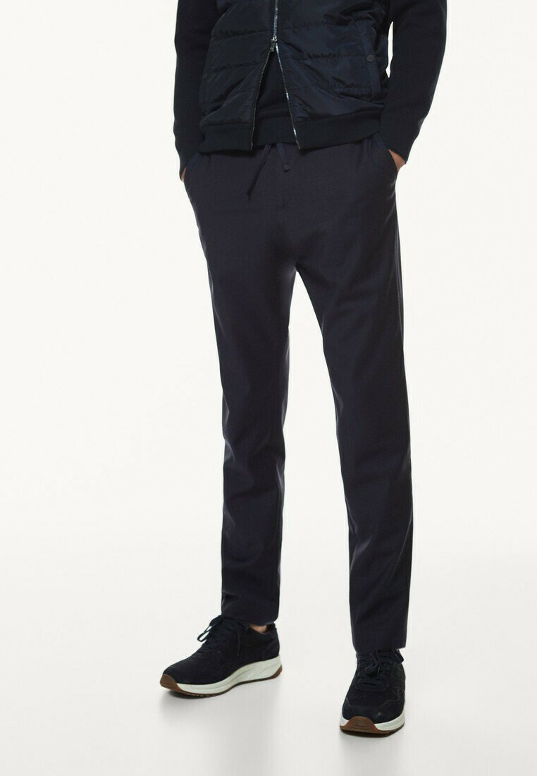 Massimo Dutti - CASUAL FIT - Trousers - dark blue