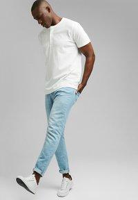 Esprit - PIQUE - Basic T-shirt - off white - 1