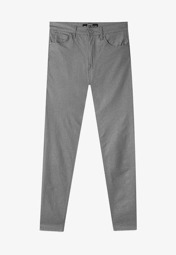 MIT HOHEM BUND - Trousers - grey
