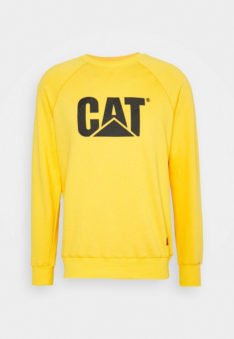Caterpillar - WHEEL PRINT - Sweatshirt - yellow
