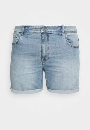 STRAIGHT PLUS - Denim shorts - everyday blue