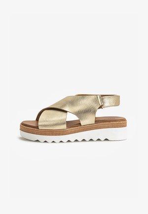 Sandales à plateforme - mntrl gold ngl