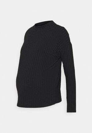 OLMGINA O NECK - Bluzka z długim rękawem - black