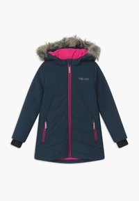 TrollKids - GIRLS LIFJELL JACKET - Winter coat - navy melange/magenta - 0
