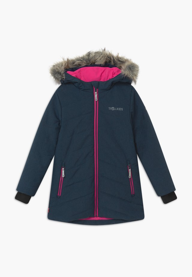 GIRLS LIFJELL JACKET - Wintermantel - navy melange/magenta