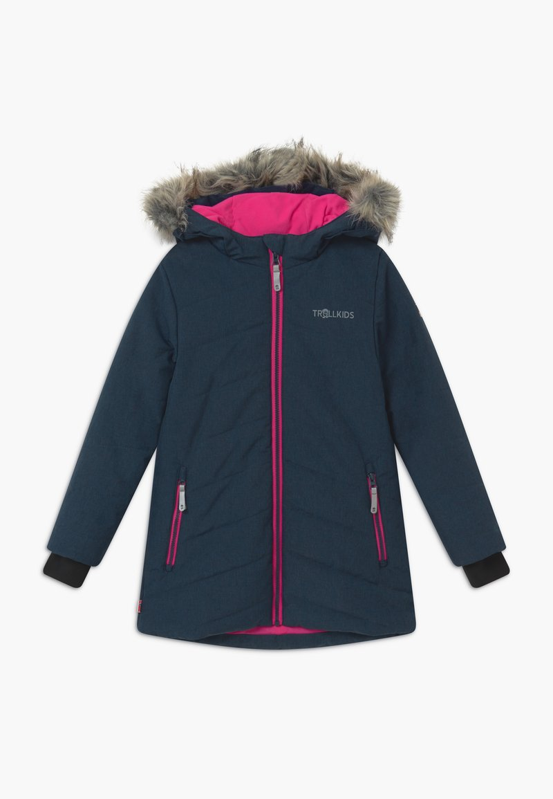 TrollKids - GIRLS LIFJELL JACKET - Winter coat - navy melange/magenta