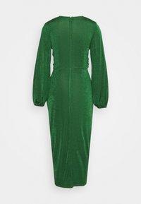 Closet - TWIST FRONT LONG SLEEVE DRESS - Day dress - dark green - 1