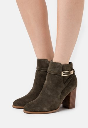 LEATHER - Ankle boots - olive