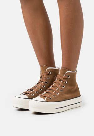 CHUCK TAYLOR ALL STAR LIFT - Høye joggesko - clove brown/egret/black