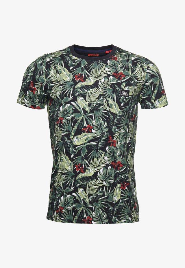 T-shirt print - banana leaf aop