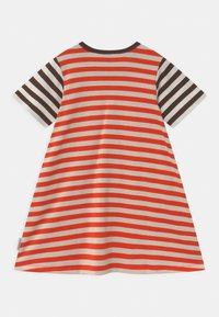 Marimekko - AHDE TASARAITA  - Jersey dress - orange red/light beige - 1