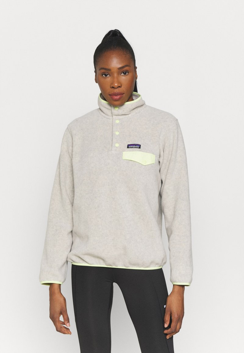 Patagonia - SYNCH SNAP - Fleece jumper - oatmeal heather/jellyfish yellow