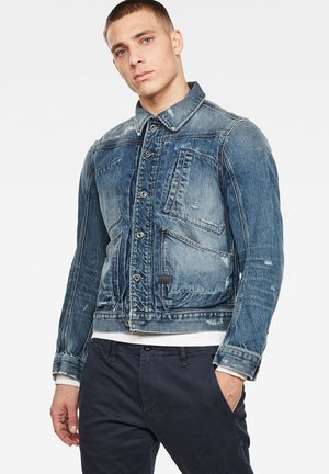 5650 - Denim jacket - antic faded prussian blue restored