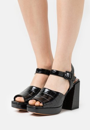 BREST - High heeled sandals - black