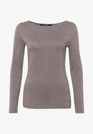 Long sleeved top - grey melange varied