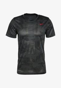 Nike Performance - DRY TEE CAMO - T-Shirt print - iron grey/black - 0