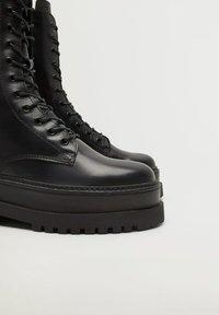 Mango - MONET - Lace-up ankle boots - schwarz - 8