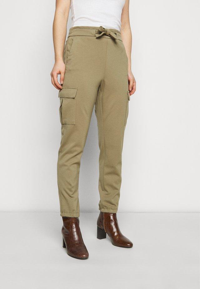 ONLPOPTRASH BELT PANT - Cargo trousers - covert green