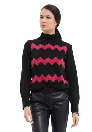 Jumper - schwarz pink