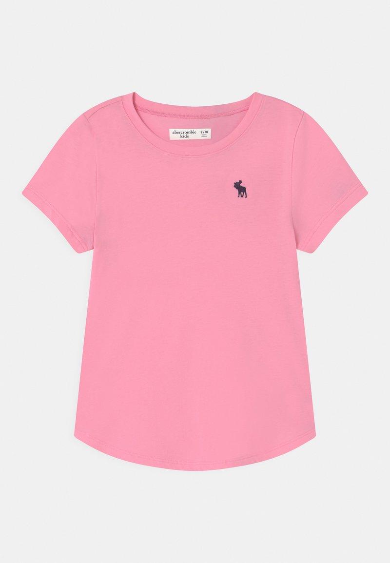 Abercrombie & Fitch - CORE CREW - Jednoduché triko - pink