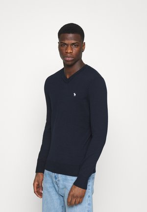 ICON V NECK - Jumper - navy