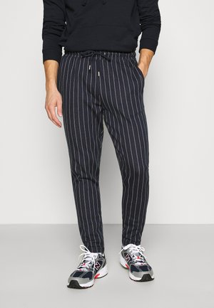 STRIPE JOG - Trainingsbroek - navy