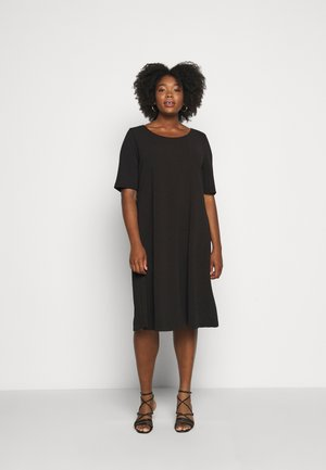 OIL - Jersey dress - black