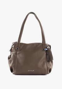 JETTE - Handbag - truffle / shiny silver - 0