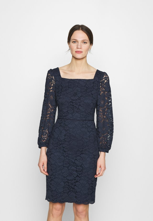 KARREE AUSSCHNITT - Cocktail dress / Party dress - navy