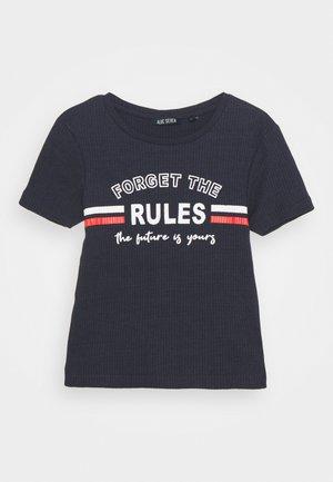 TEEN GIRL FORGET THE RULES - Print T-shirt - dark blau