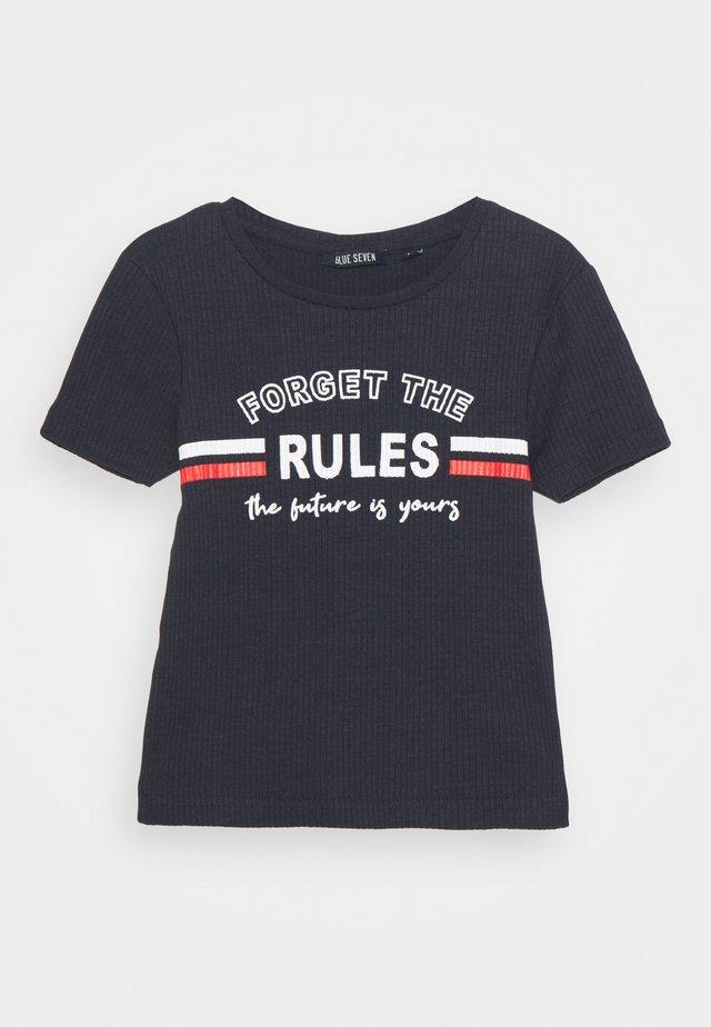 TEEN GIRL FORGET THE RULES - T-shirt print - dark blau