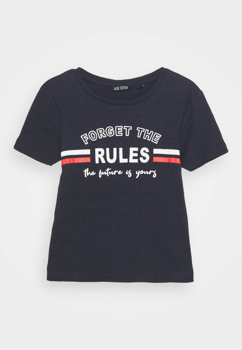 Blue Seven - TEEN GIRL FORGET THE RULES - Print T-shirt - dark blau