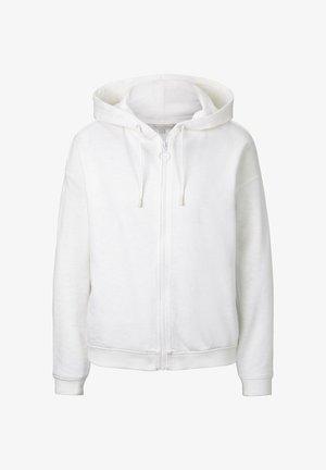 STRICK & SWEATSHIRTS LOCKERE SWEATJACKE MIT KAPUZE - Zip-up hoodie - off white