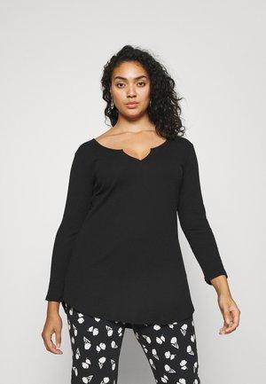 NOTCH FRONT - T-shirt à manches longues - black