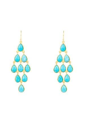 Earrings - blau